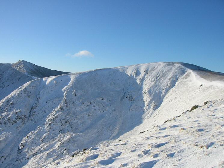 White Side with Helvellyn Lower Man on the far left