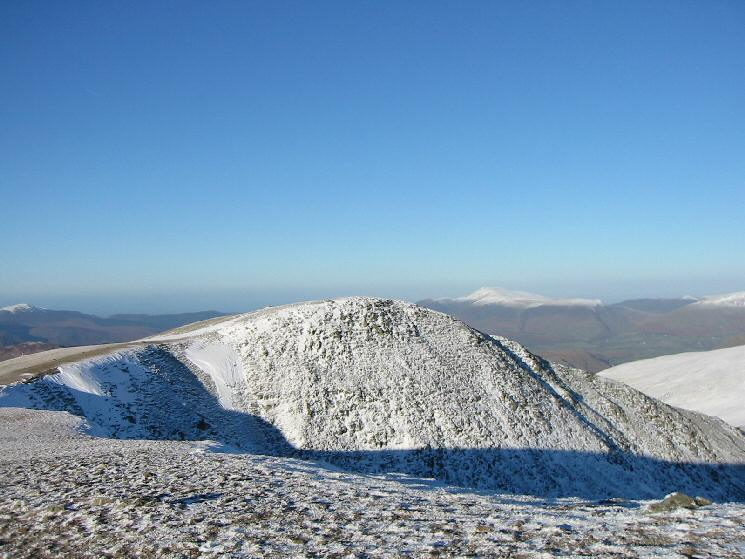 Helvellyn Lower Man with Skiddaw in the distance