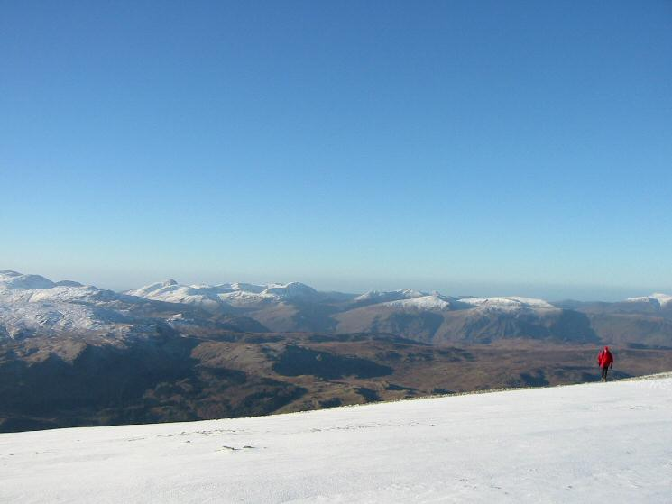 The view west from Helvellyn