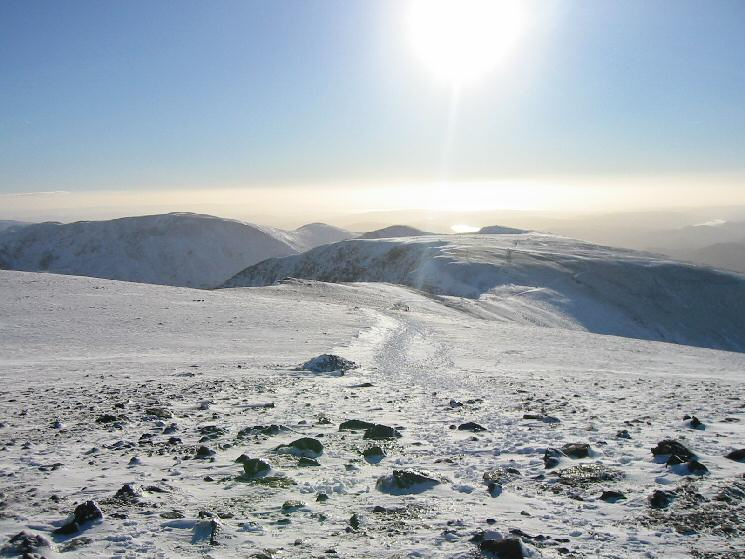 The view south from Helvellyn