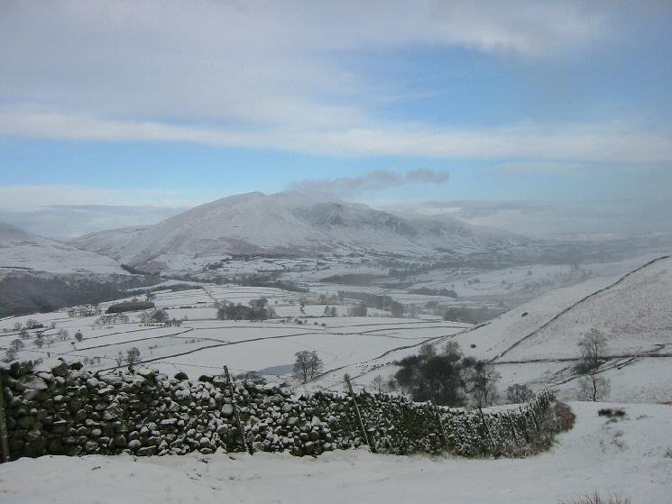 Blencathra from above Rakefoot