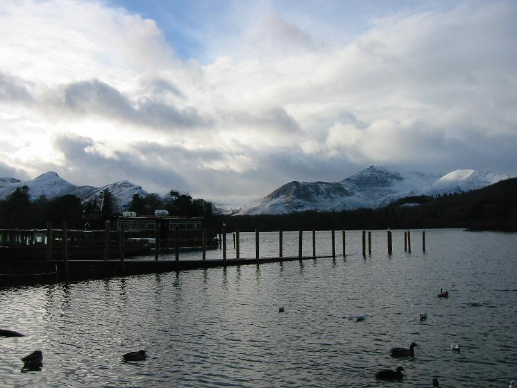 Catbells and Causey Pike from the Keswick landing stages