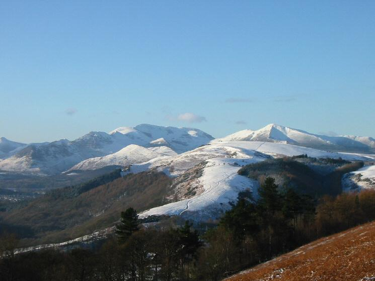 Looking over Latrigg to the north western fells