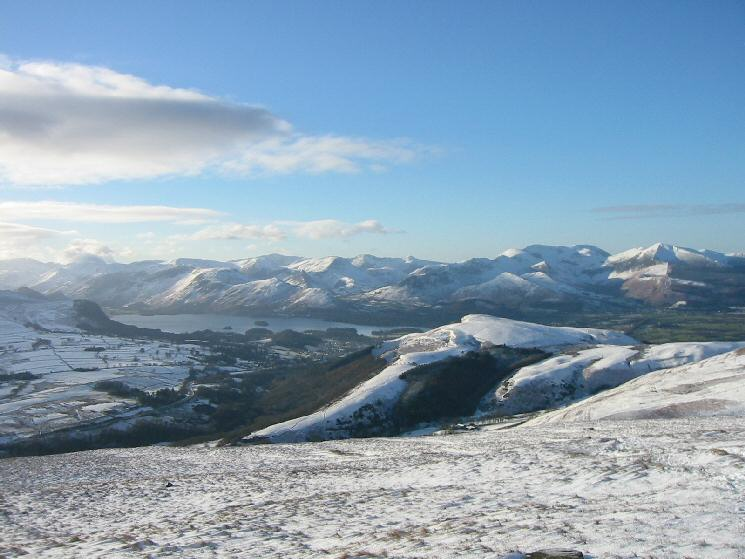 Derwent Water and the north western fells from Blease Fell