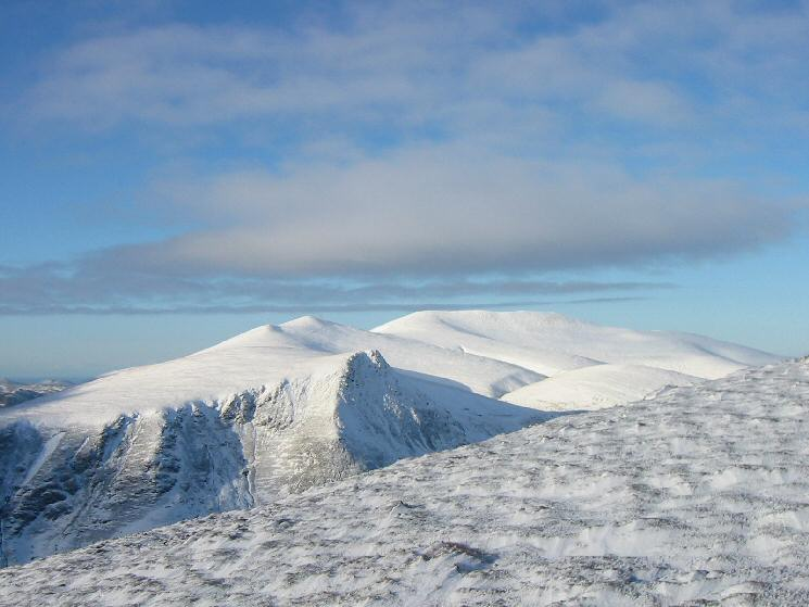 Lonscale Fell with Skiddaw Little Man and Skiddaw beyond