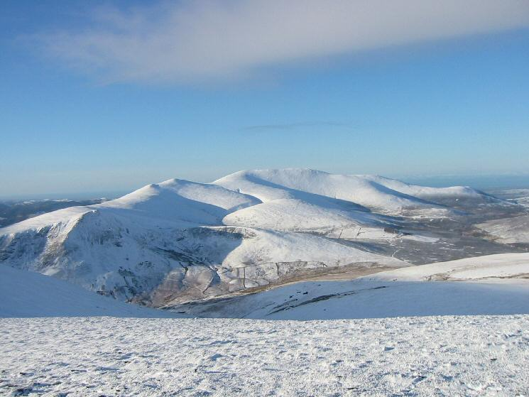 The Skiddaw fells from Blencathra's summit