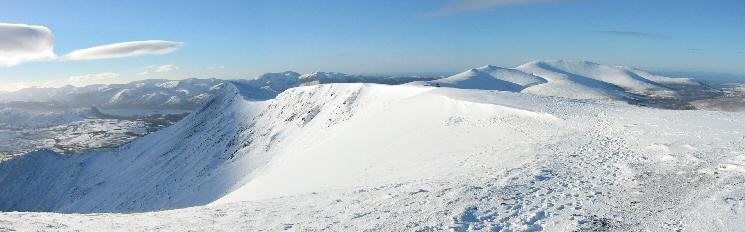The view west from Blencathra's summit