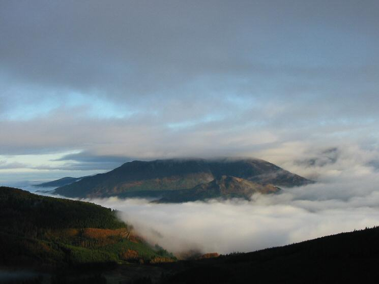 The Skiddaw fells above the clouds