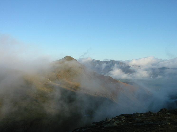 Grisedale Pike's summit now out of the cloud