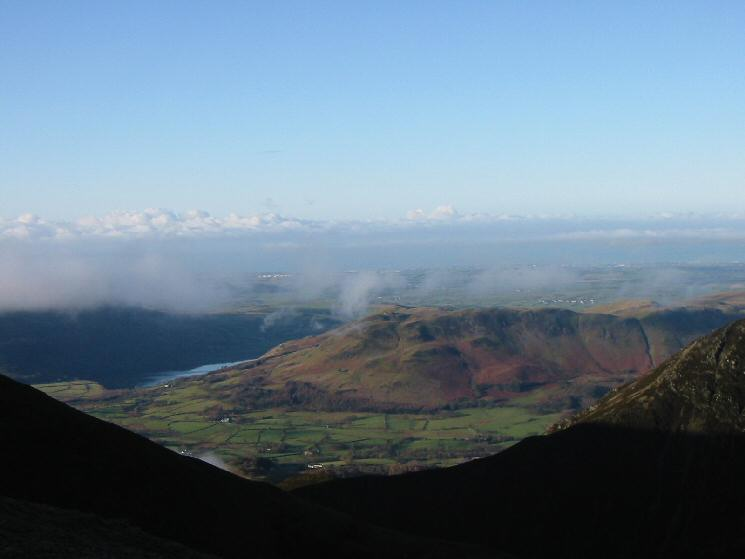 Looking west to Low Fell and the coast