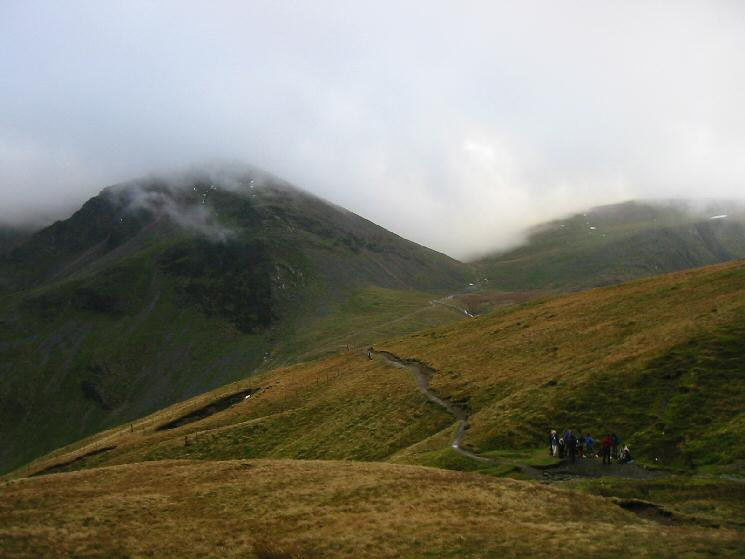 Looking back to Eel Crag and Coledale Hause