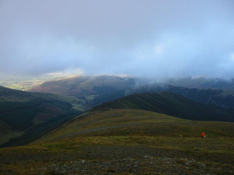 Grisedale Pike's northern ridge, leading to Hobcarton End