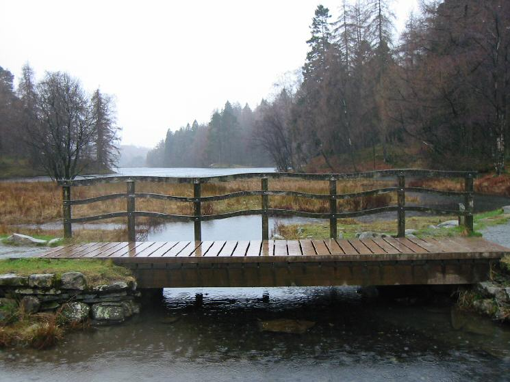 The bridge at the far end of Tarn Hows