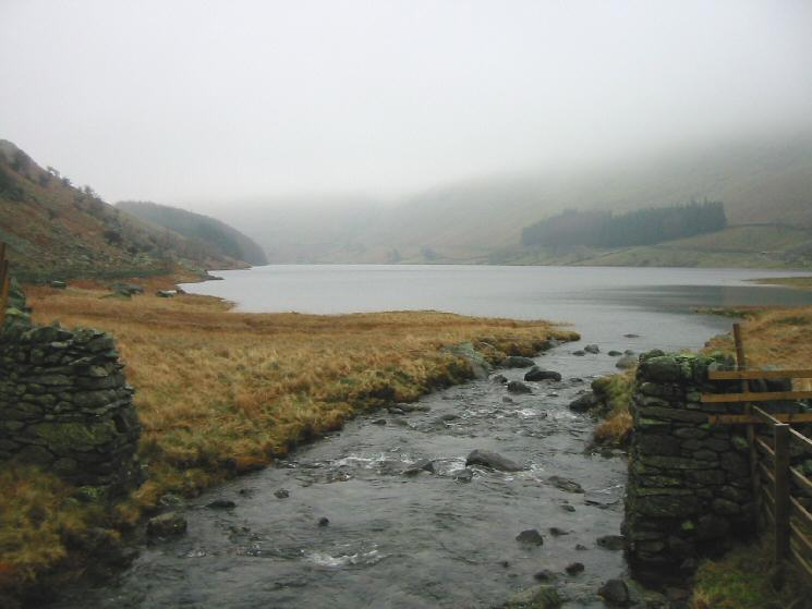 Haweswater from the footbridge over Mardale Beck