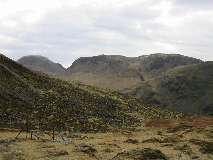 Great Gable and Kirk Fell from Scarth Gap Pass
