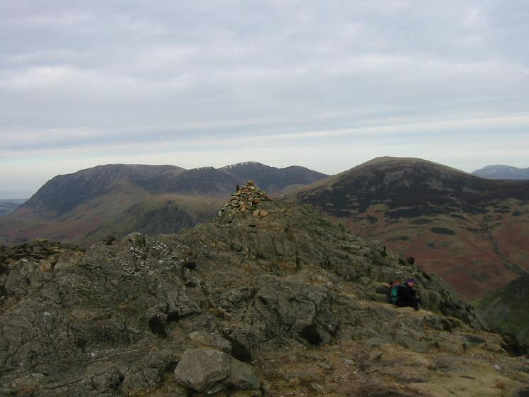 The Grasmoor fells and Robinson from Haystacks' summit