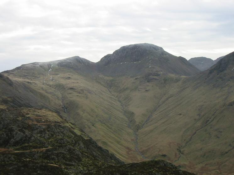 Green Gable and Great Gable at the head of Ennerdale from Haystacks
