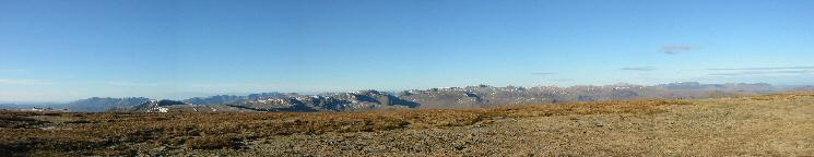 Westerly panorama from High Street's summit