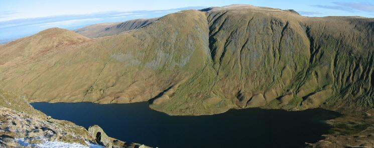 Hayeswater with Rest Dodd, The Knott, Rampsgill Head and Kidsty Pike behind