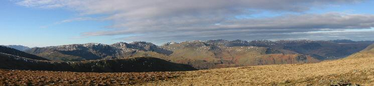 Westerly panorama from Gray Crag'summit