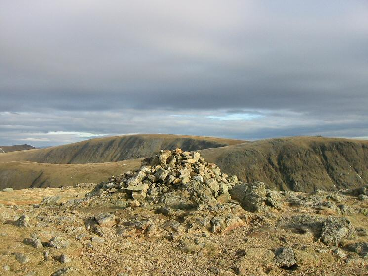 High Street and Thornthwaite Crag from Stony Cove Pike's summit cairn