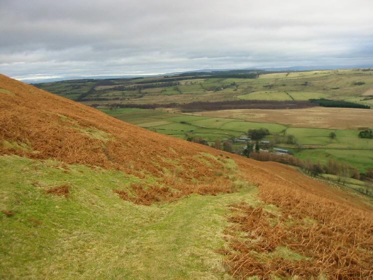 Looking back down the path up Souther Fell from Mungrisdale