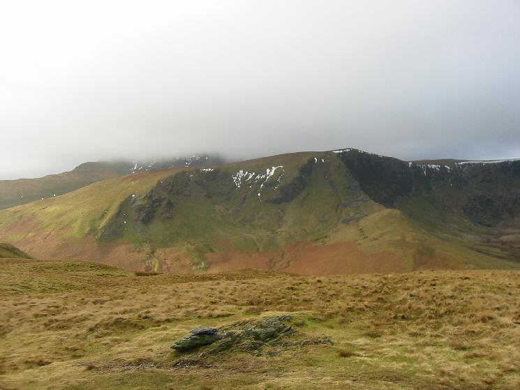 Bannerdale Crags from Souther Fell's summit