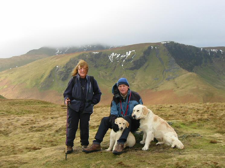 The Hiley family at Souther Fell's summit