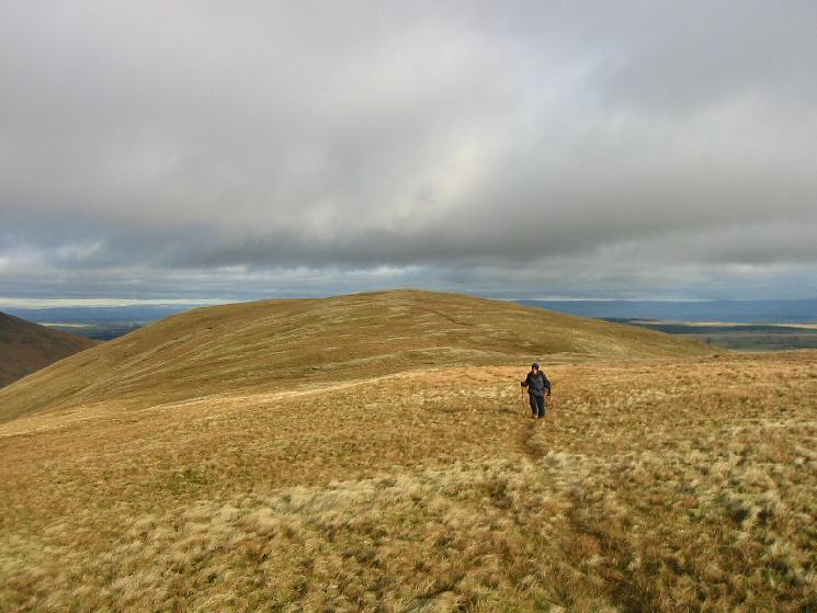 Looking back to Souther Fell's summit