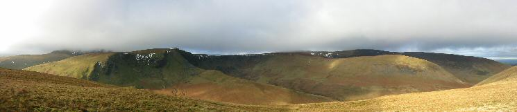 Bannerdale Crags and Bowscale Fell from Souther Fell