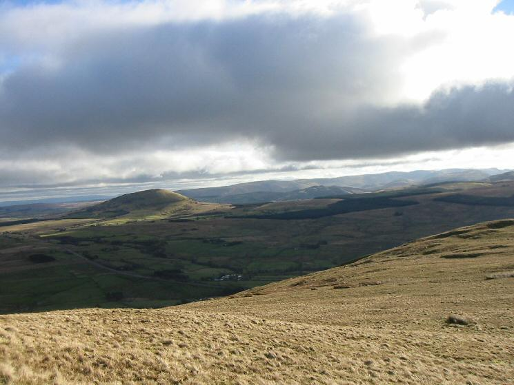 Looking to the southeast to Great Mell Fell with the High Street fells beyond