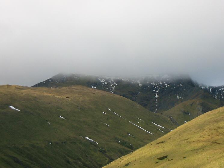 The top of Blencathra just in cloud