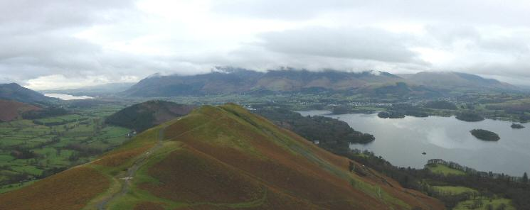 The view north from Catbells north ridge