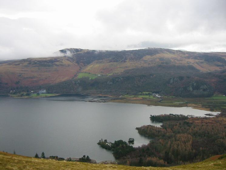 Looking across Derwent Water to Bleaberry Fell and High Seat