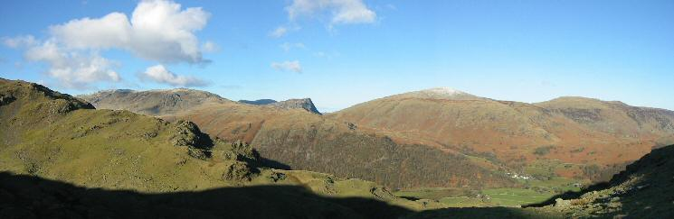 The view west to Honister Crag and Dale Head