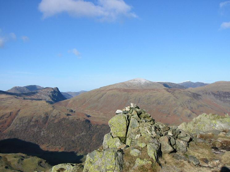 Honister Crag and Dale Head from Bessyboot's summit cairn