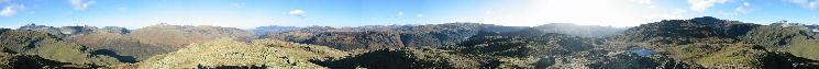 360 Panorama from Rosthwaite Fell (Bessyboot)'s summit