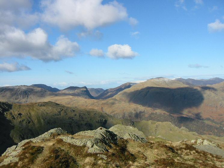 Honister Crag and Dale Head from Dovenest Crag's western summit