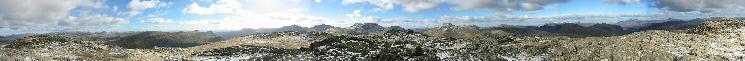 360 Panorama from Glaramara's summit