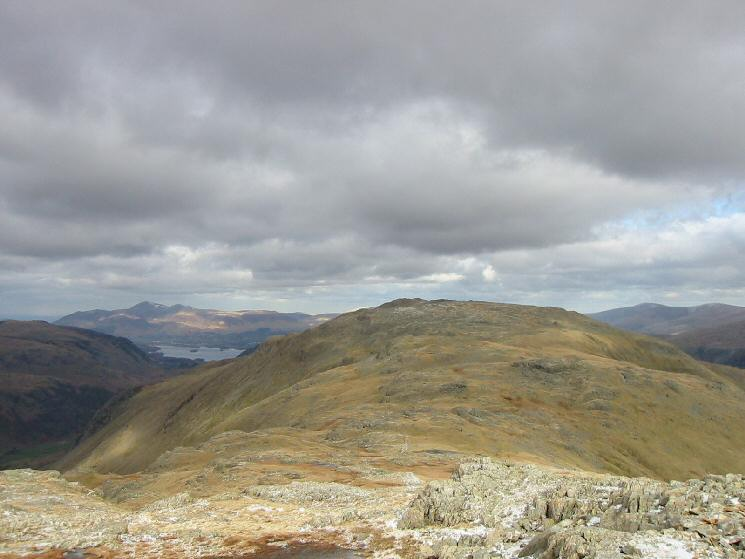 Looking back towards Glaramara from the path up Allen Crags