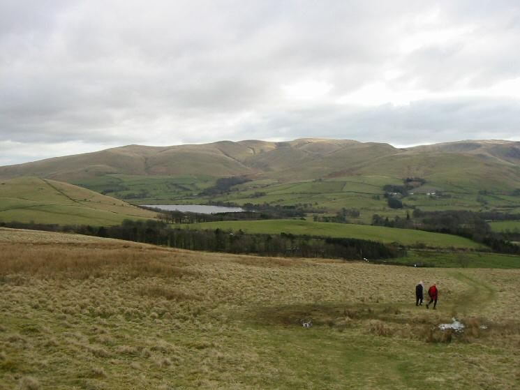 Over Water and the Back o'Skidda fells from the path up Binsey from Binsey Lodge