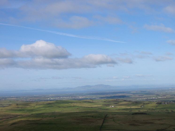 Looking across the Solway Firth to Criffel in Scotland
