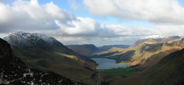 High Crag, the Buttermere Valley and Grasmoor