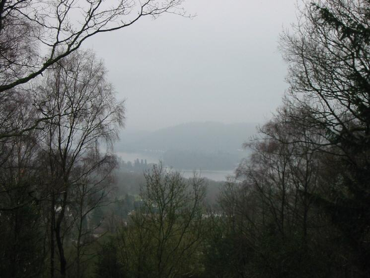 Windermere (just) through a gap in the trees