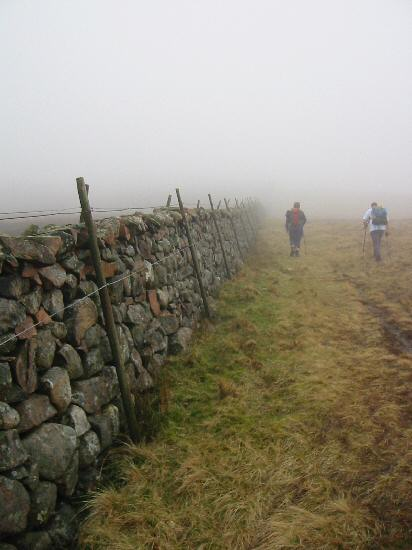 Just follow the wall, part of the Ennerdale Fence