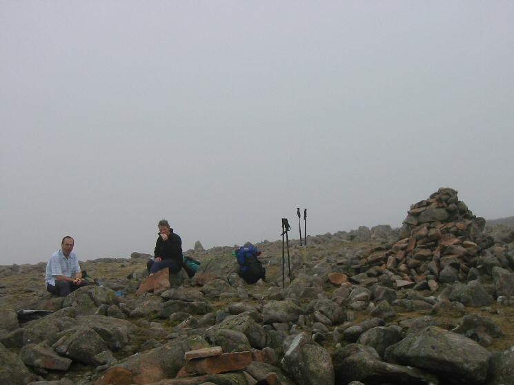 Lunch stop at Caw Fell's summit