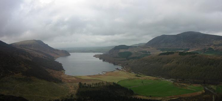 Crag Fell, Ennerdale Water, Bowness Knott and Great Borne from Lingmell