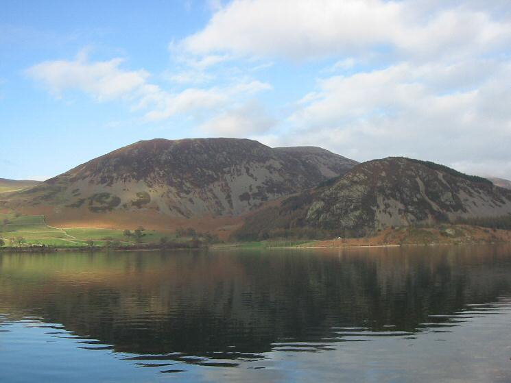 Looking across Ennerdale Water to Herdus, Great Borne and Bowness Knott