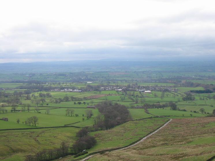 Looking back down on Dufton