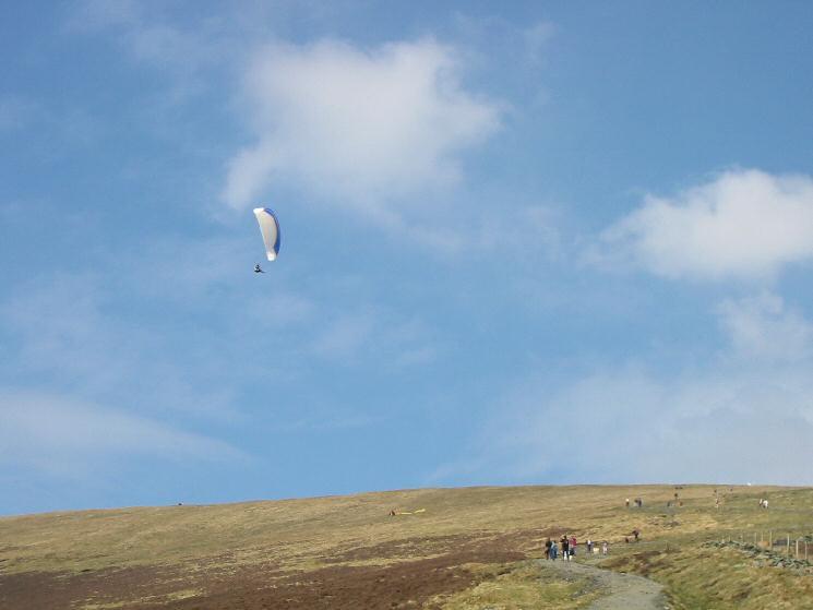 Paraglider above Jenkin Hill